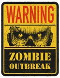 Zombie. Warning sign. Hand drawn. Vector Royalty Free Stock Image