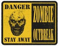zombie więcej mojego portfolio znak podpisuje ostrzeżenie ręka patroszona wektor Zdjęcie Stock