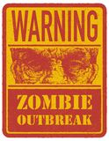 zombie więcej mojego portfolio znak podpisuje ostrzeżenie ręka patroszona wektor Obraz Stock