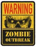 zombie więcej mojego portfolio znak podpisuje ostrzeżenie ręka patroszona wektor Obraz Royalty Free