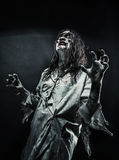 Zombie woman with bloody face Royalty Free Stock Images