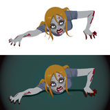 Zombie Woman Crawling Stock Images