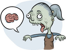 Zombie Woman Wanting Brains Stock Photography