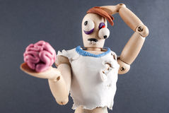 Zombie wooden dummy. Royalty Free Stock Image