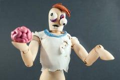 Zombie wooden dummy. Royalty Free Stock Photo