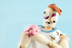 Zombie wooden dummy. Stock Images