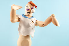 Zombie wooden dummy. Royalty Free Stock Photography
