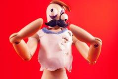 Zombie wooden dummy. Stock Image