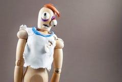 Zombie wooden dummy. Stock Photos