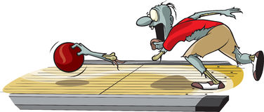 Zombiebowlingspeler vector illustratie