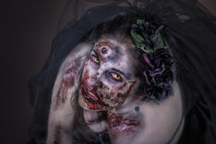 Zombiebraut Stockbild