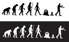 Zombieevolutie royalty-vrije illustratie