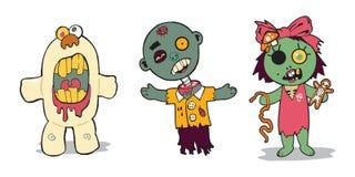 Zombiefamilie Stock Afbeelding