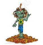 Zombiefelsenkarikatur Lizenzfreie Stockfotos