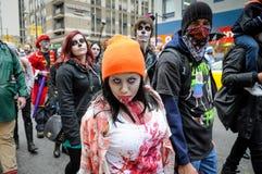 Zombiegang Royalty-vrije Stock Fotografie