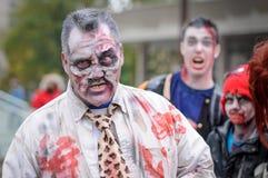 Zombiegang Royalty-vrije Stock Afbeeldingen