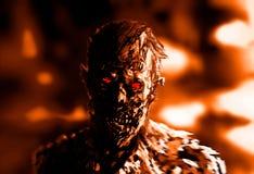Zombiegeschäftsmannzeichnung Illustration auf Thema des Horrors stockbilder