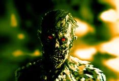 Zombiegeschäftsmannzeichnung Illustration auf Thema des Horrors lizenzfreie stockbilder