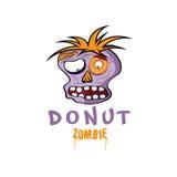 Zombiegesichtsvektor-Designschablone Lizenzfreie Stockfotos