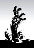 Zombiehand lizenzfreie abbildung