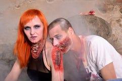 Zombiekind lizenzfreie stockbilder