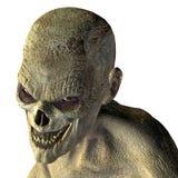 Zombiekopf mit schlechtem Auge lizenzfreie abbildung