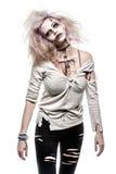 Zombiemeisje Royalty-vrije Stock Foto