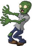 Zombiemensen die Dood Grappig Beeldverhaal lopen Stock Foto