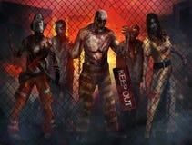 Zombieën het lopen Stock Foto's