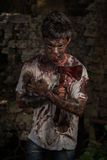 Zombieënmens Stock Foto