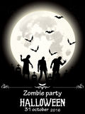 Zombiepartei Halloween Stockbild