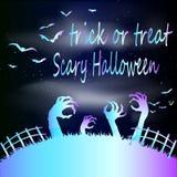 Zombiepartij, Halloween, helder neon Royalty-vrije Stock Afbeelding