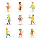 zombies διάνυσμα cartoon Στοκ εικόνες με δικαίωμα ελεύθερης χρήσης