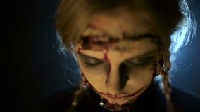 Zombies με το τεμαχισμένο πρόσωπο φιλμ μικρού μήκους