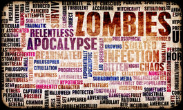 Zombies. In the Undead Apocalypse Outbreak Art Royalty Free Stock Photography