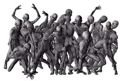 Πλήθος των zombies Στοκ φωτογραφία με δικαίωμα ελεύθερης χρήσης