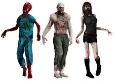zombies vektor illustrationer