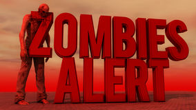 Zombies alert and zombie Stock Images