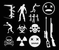 Zombies. Apocalypse Sign and Symbols - Vector icon set EPS8 Stock Photography