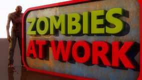 Zombies At Work Royalty Free Stock Images