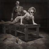 Zombies in the dark room Stock Photos