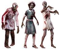 Zombies in der Krankenhauskleidung Stockfotografie