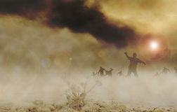 Zombies desert horizontal Royalty Free Stock Images