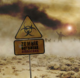 Zombies desert sign Stock Photos