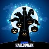 Zombies hand holding pumpkins Halloween Stock Photography