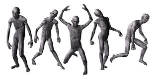 Zombies i 3D Royaltyfri Bild