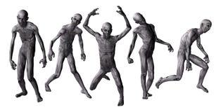 Zombies i 3D royaltyfri illustrationer
