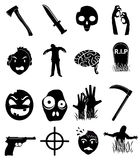 Zombies icons set Royalty Free Stock Photography