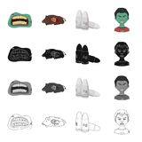 Zombies, man, corpse and other web icon in cartoon style.Mouth, lips, wounds, icons in set collection. Royalty Free Stock Photo