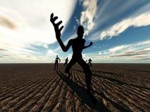 Zombies på flyttningen Arkivbilder